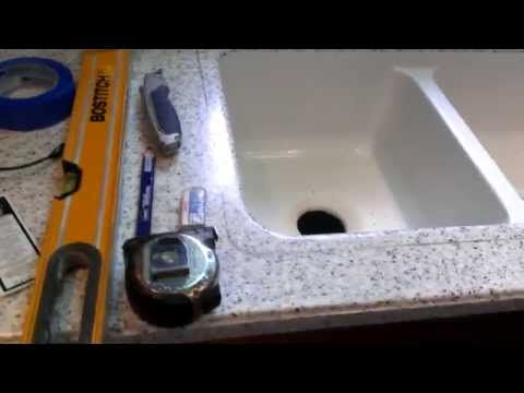 How To Replace A Corian (resin) Sink   YouTube