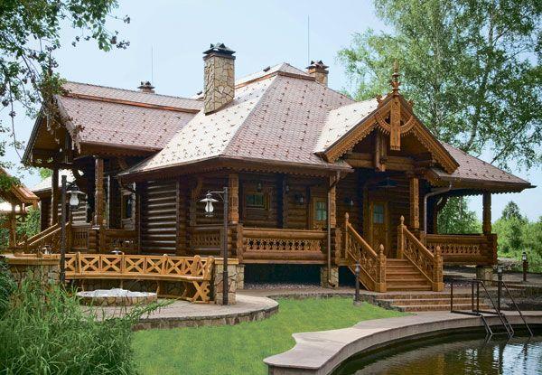 Банный комплекс из оцилиндрованного бревна   Дома из оцилиндрованного бревна   Журнал «Деревянные дома»