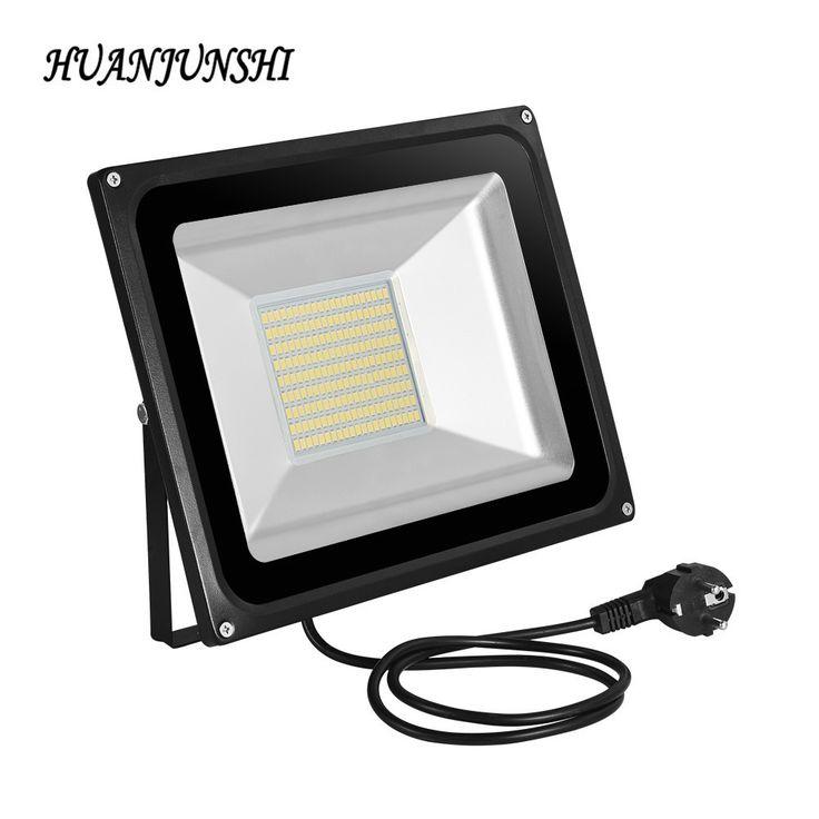 Outdoor lighting 357 pinterest new 100w smd led floodlight with eu plug ac220v 7000lms led spot light 100 watt led mozeypictures Choice Image