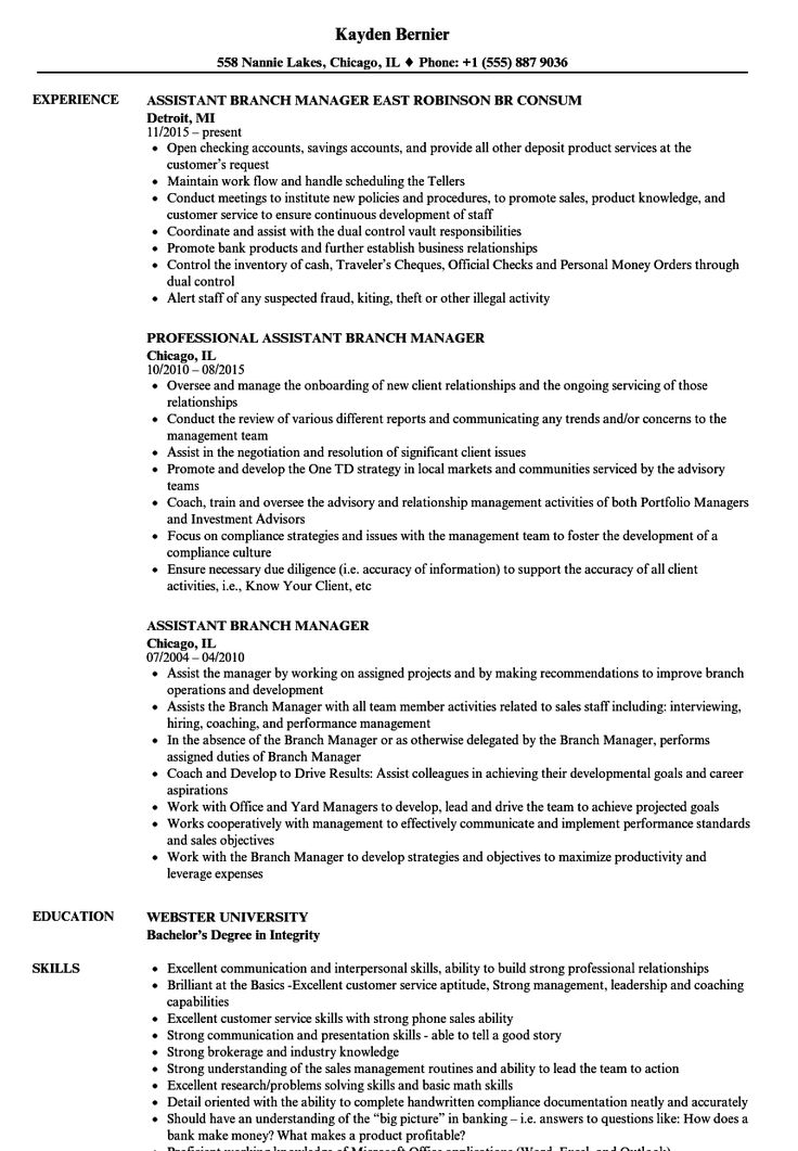 Assistant Project Manager Resume Lovely assistant Branch