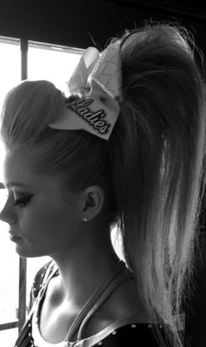 her cheer hair is on point