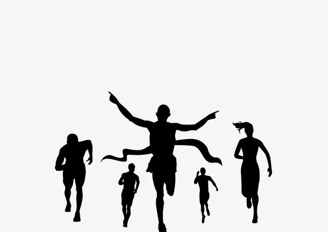 Sports figures silhouette background