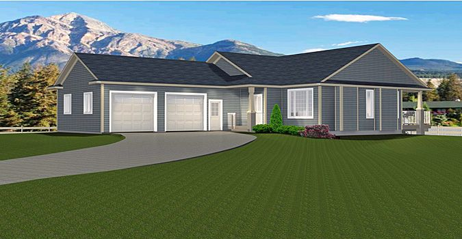 House Plan 2015894 3 Bedroom Bungalow With 2 Car Side Garage By Edesignsplans Ca This 3 Bedroom Bungalow Has A Gre Bungalow 3 Bedroom Bungalow House Styles