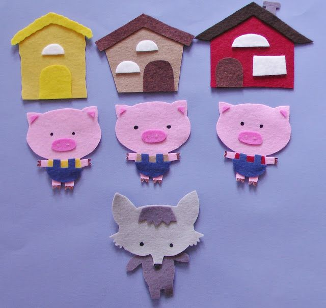 The Three Little Pigs | Flannel Board Fun