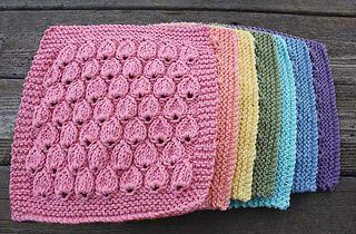 raindrops dishcloth knitting pattern