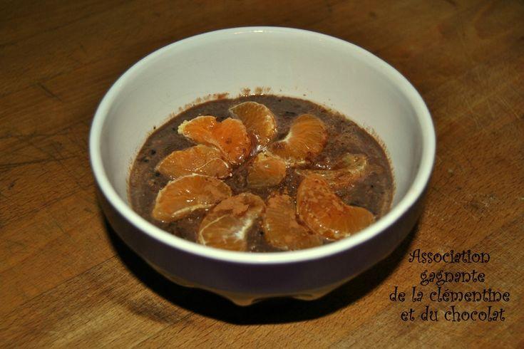 Porridge à la clémentine chocolatée