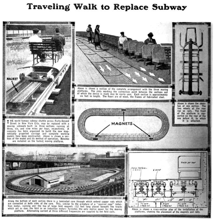 Travel by conveyor belt? Why not! Futuristic ideas from