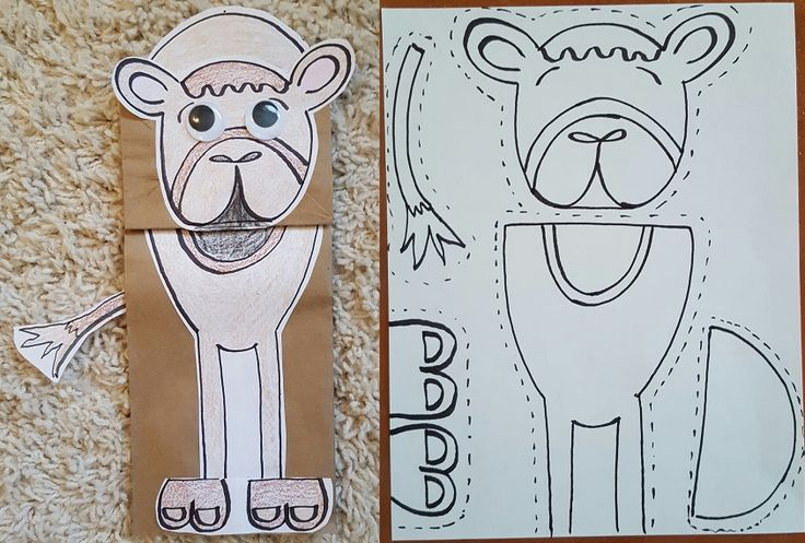 Camel Paper Bag Puppet Craft!  I couldn't find a decent one online, so I made my own!!
