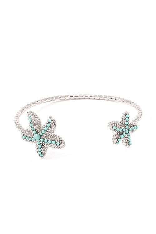 Starfish Bracelet Dotted in Turquoise