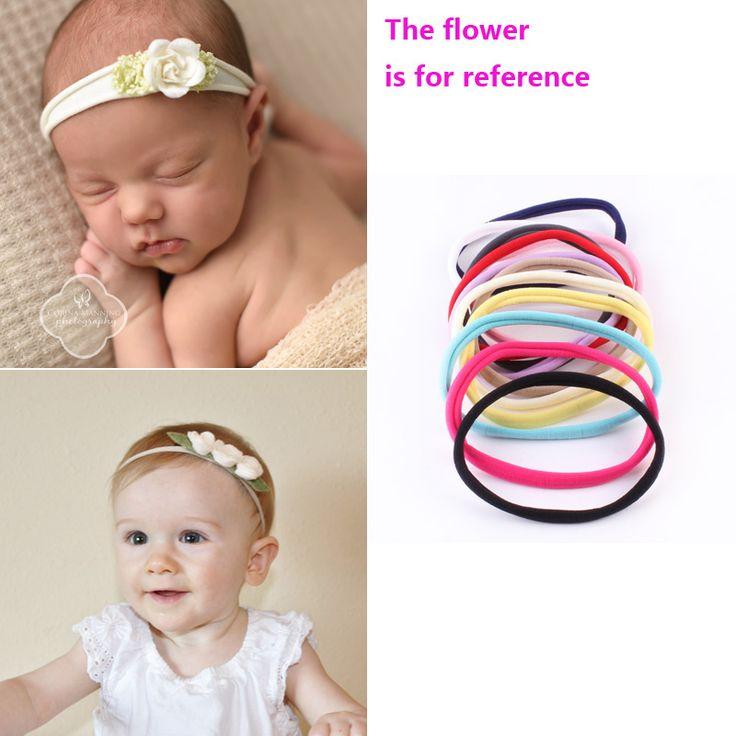 HQ 10pcs/lot 12 Colors Popular  Seamless Elastic Ring Headbands Baby Girls DIY Headdress Multipurpose Children Hair Ropes FHJ607