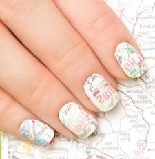 This month, we're putting a navigational twist on our DIY nail transfers tutorial and opting for map pattern nail art. Too shy to ask for directions? No worries! Check out our step-by-step instructions!
