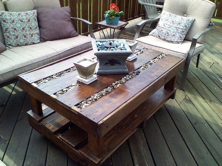 Perfect Pallet Deck | Pallet Deck Table