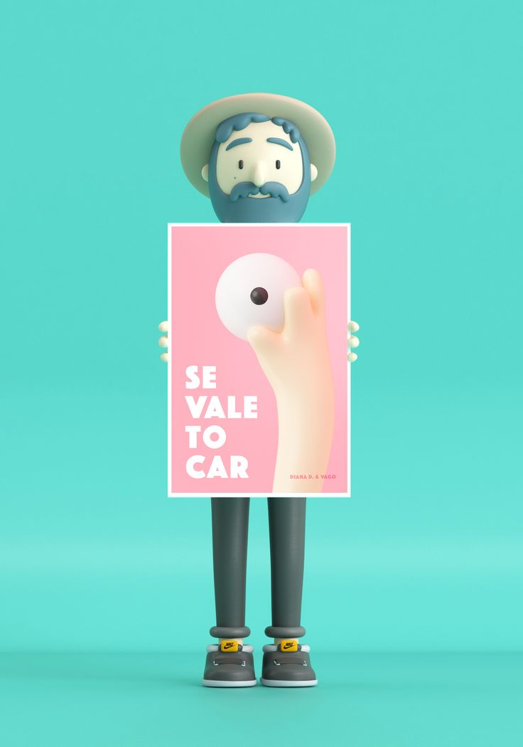 Octubre rosa, character, 3D, illustration, hand, eye, cancer, poster.