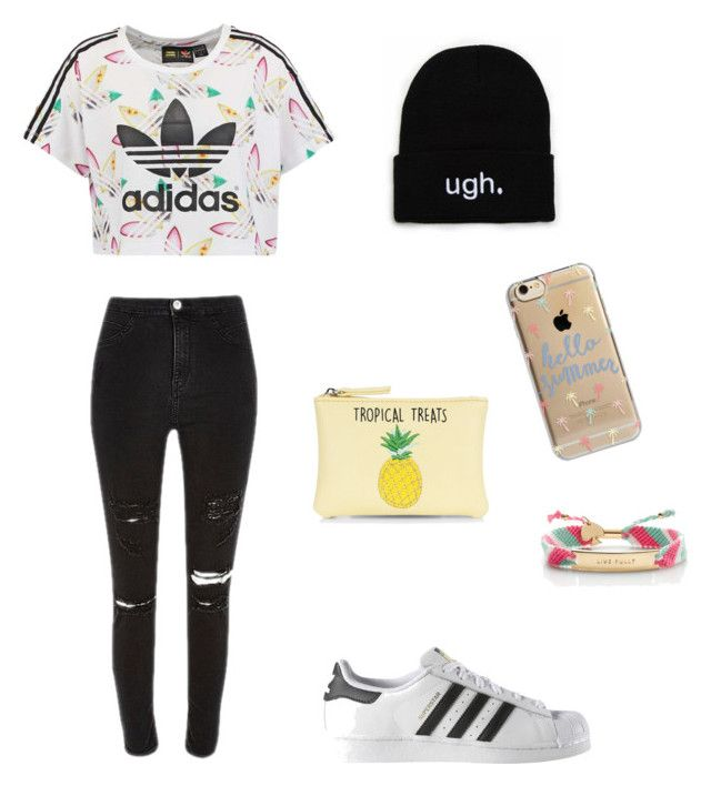 """""""Adidas"""" by martyna-janas on Polyvore featuring moda, adidas Originals, adidas, New Look, Agent 18 i Kate Spade"""