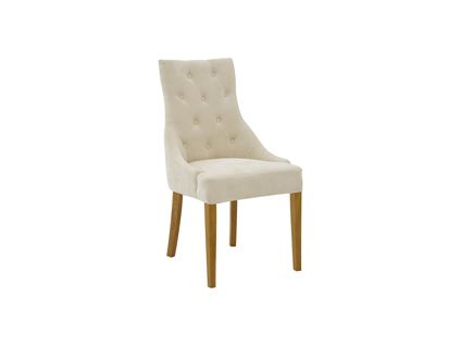 Katya Fully Upholstered Chair In Almond Pair