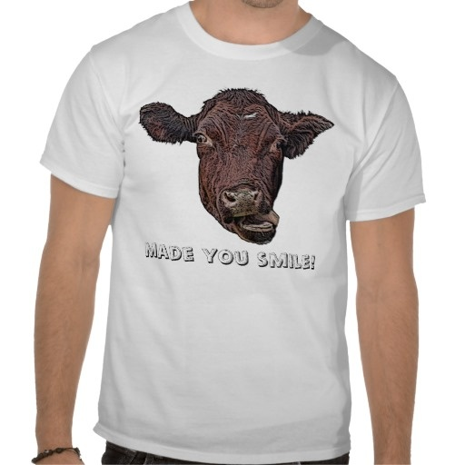 Made You Smile Silly Cow T-shirt