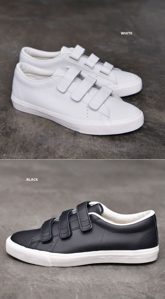 Mens Triple Velcro Leather Sneakers-Shoes 543 by Guylook.com