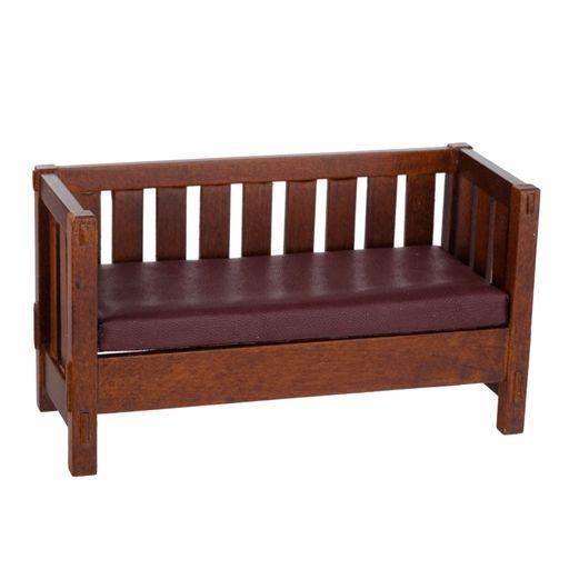 Slat-Style Craftsman Sofa