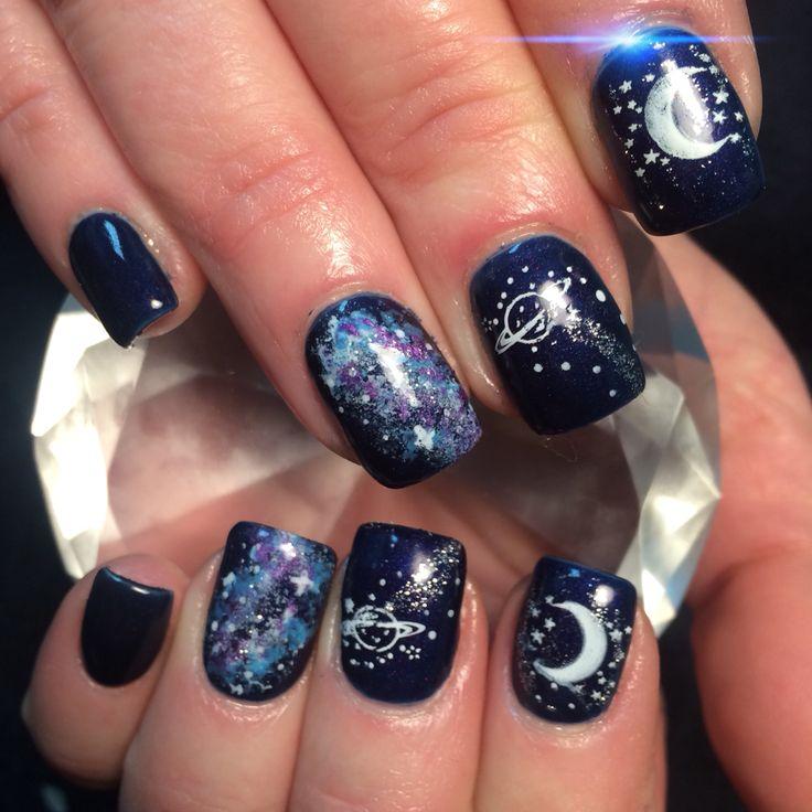 Best 25+ Galaxy nail art ideas on Pinterest | Galaxy nails ...