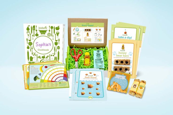 Kidstir is a monthly subscription box for kids to learn about cooking and eating good food.