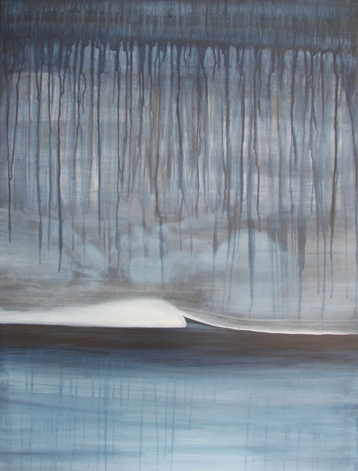 """This was the larger version of the original blue acrylic """"a break in the storm"""" commissioned by The Skin Center - Tauranga"""