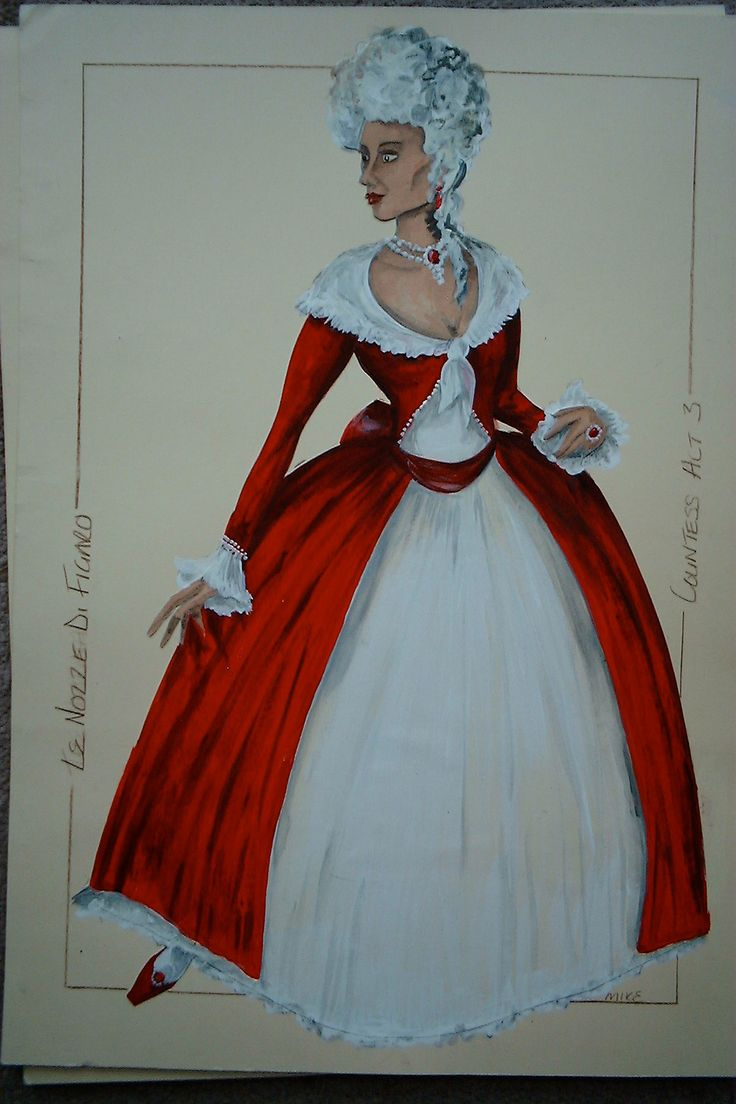 The Marriage of Figaro Countess Costume design