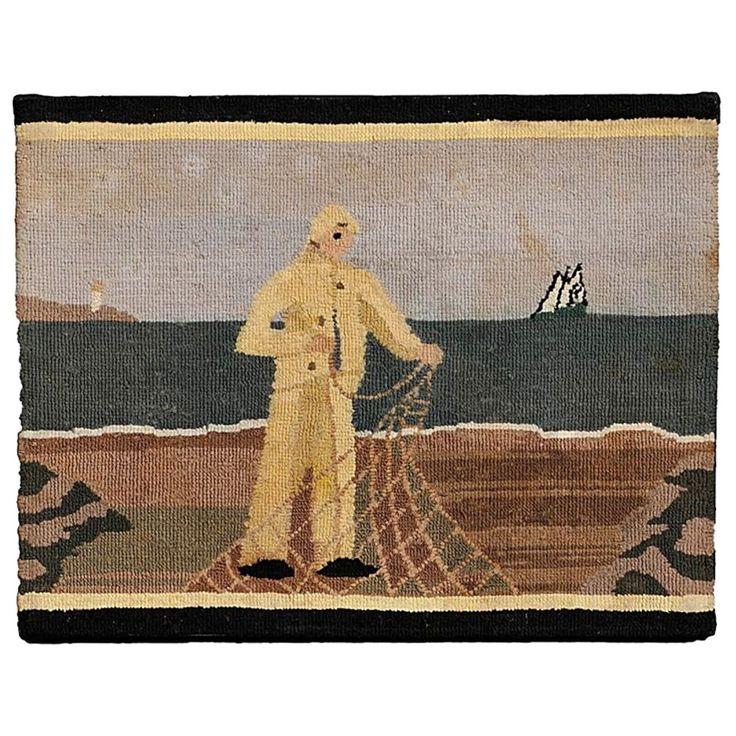 Grenfell Fisherman Hooked Mat Newfoundlan Hookingfolk