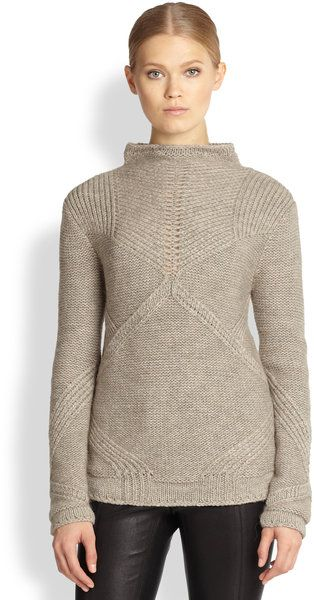 Helmut Lang Gray Linear Transfer Sweater // This would be really fun to reverse-engineer.