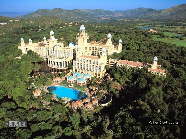 Sun City  North West Province, South Africa - Resort Property  Water park and Casino and Hotel complex with adjoining bush safari adventure in dramatic settings.