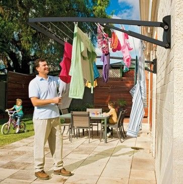 Hills Supa Fold Mono FD45506 Folding Frame Clothesline - Midnight contemporary clothesline