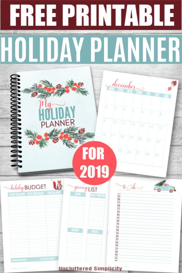 Orgaize Christmas 2020 Free Printable Holiday Planner For 2020 | Organize & Declutter