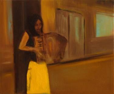 "Saatchi Art Artist Marta Zamarska; Painting, ""Accordion Girl I"" #art"