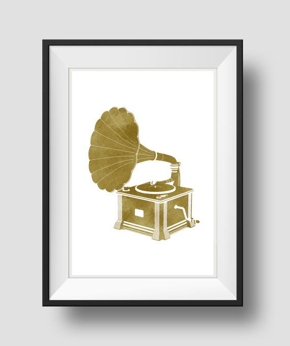 Gramophone Art, Antique Gramophone, Antique print, Old Record Player,Home Wall Art, Printable Art, Home Wall Art,Digital Art Print