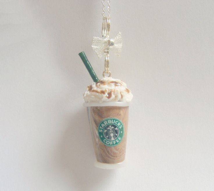 Scented or Unscented Starbucks inspired Mocha Frappuccino Miniature Food Necklace Pendant - Miniature Food Jewelry. £13.99, via Etsy.