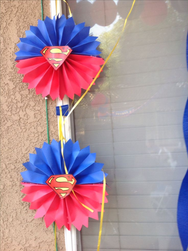 DIY superman decorations