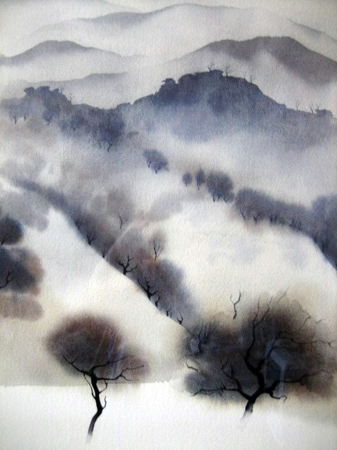 Eyvind Earle - same artist who did the backgrounds for Disney's Sleeping Beauty