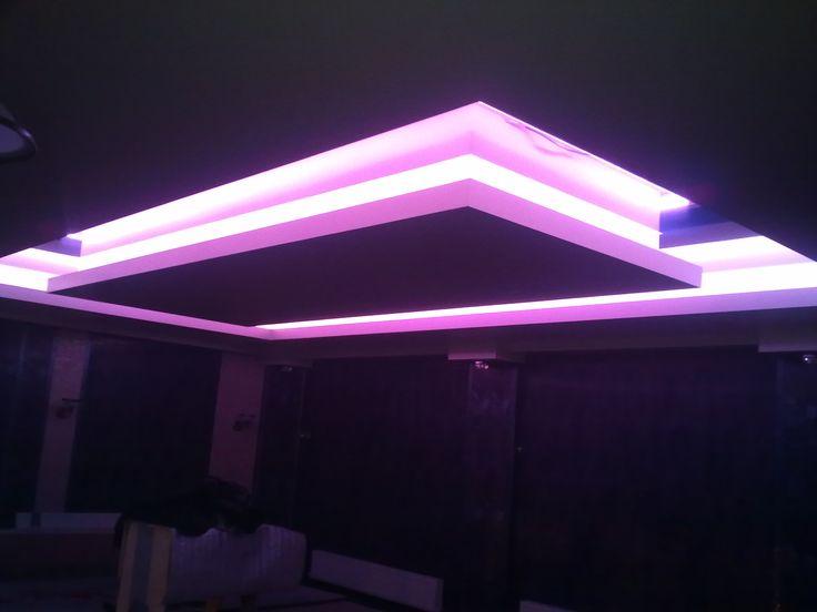 Светодиодная подсветка потолка 2 уровня