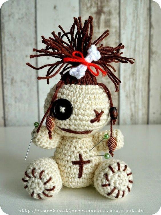 Voodoopuppe Häkelanleitung   Kreativ, Puppen selber machen