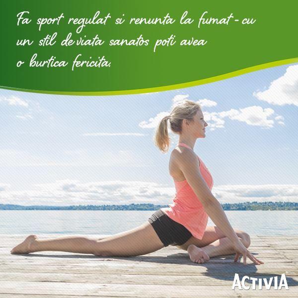 Un stil de viata sanatos iti da o stare de bine, energie, te face sa te simti mai frumoasa, iar asta se vede in tot ceea ce faci! Citeste mai multe sfaturi pentru o burtica fericita pe www.activia.com/ro-RO/#tummy-tips