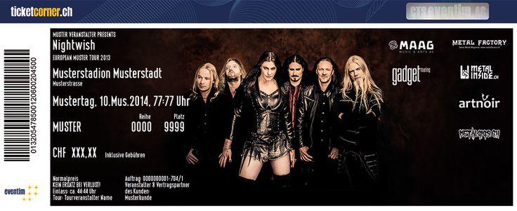 FanTickets von #Nightwish gibt's auf www.ticketcorner.ch