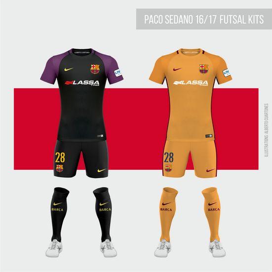 """Echa un vistazo a mi proyecto @Behance: """"FC Barcelona Futsal 16/17 Kits"""" https://www.behance.net/gallery/41657091/FC-Barcelona-Futsal-1617-Kits"""