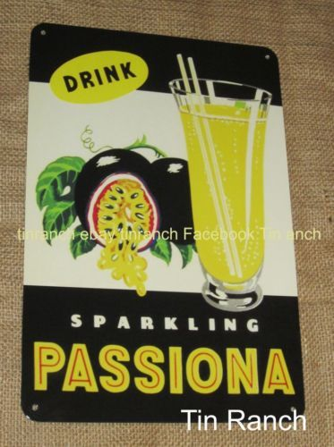 COTTEES-PASSIONA-TIN-SIGN ...one of Australias old time classic drinks!