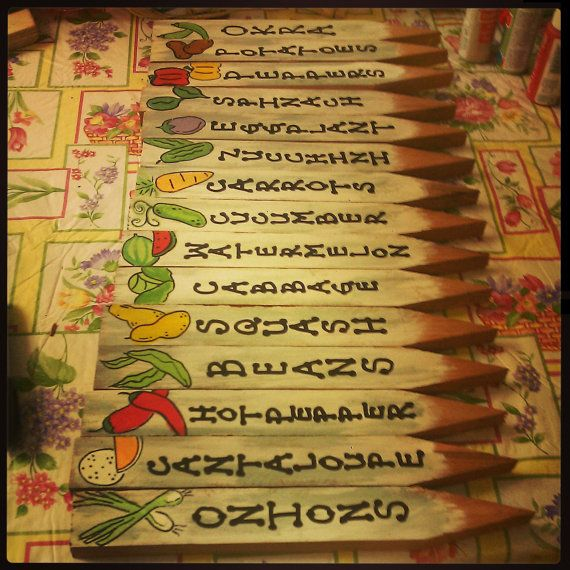 Vegetable Garden Markers Veggies