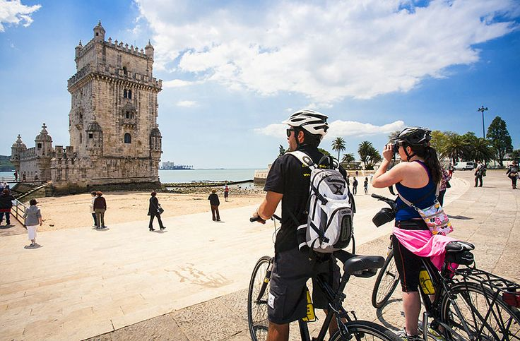 Belem Tower standing steady on the banks of the river Tagus in Lisbon, Portugal.