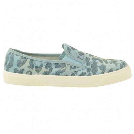 Sacha // Blue leopard slip on € 39,95