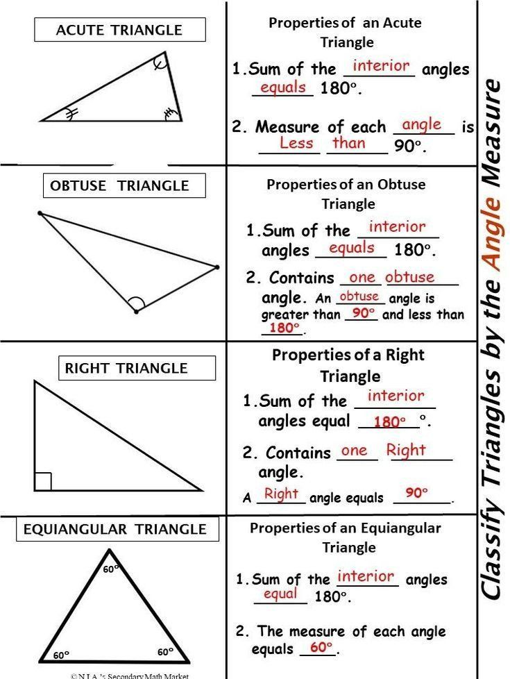 Triangle Angle Sum Worksheet Answers Classify Triangles by