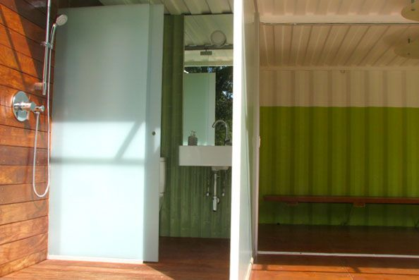 17 best ideas about pool changing rooms on pinterest - Shipping container bathroom design ...