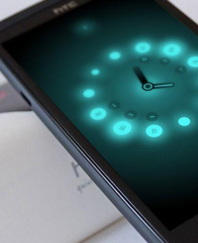 #App #Interface #UI #UX #design #Clock  Glowing