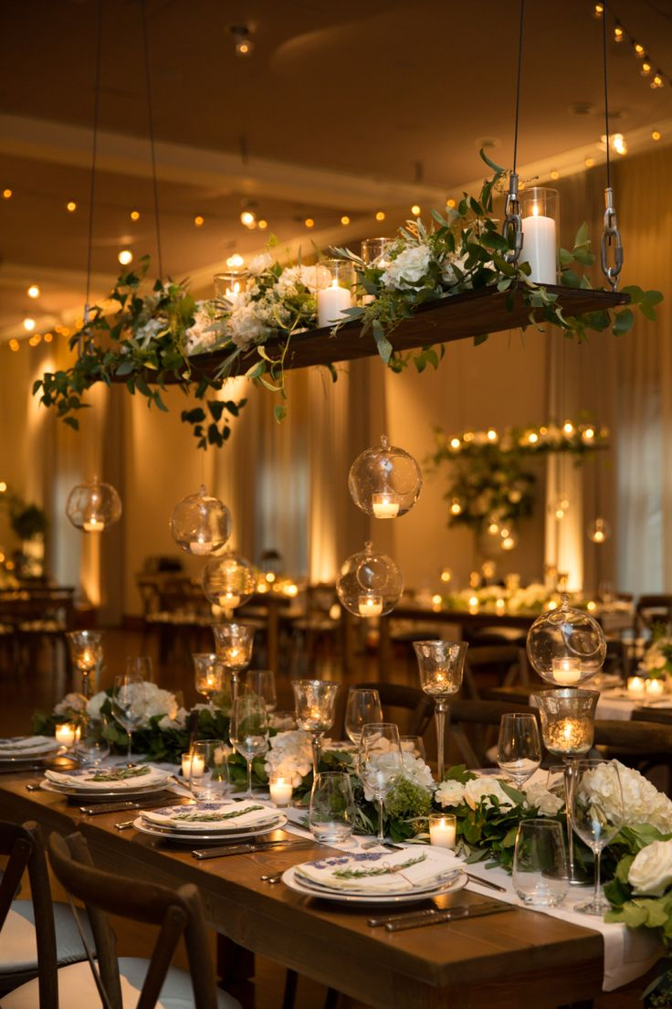 Romantic Downtown Chicago Wedding Wedding Table