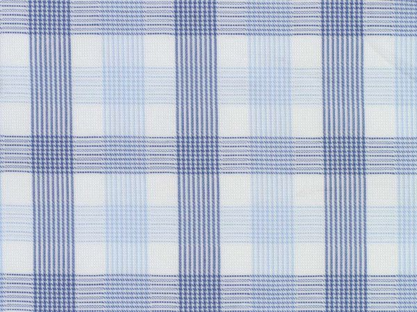 Light Blue, White, and Navy Checked Cotton